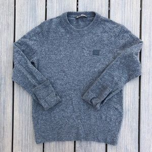Acne Studios Nalon Face Paw 17 Grey Sweater Shirt.